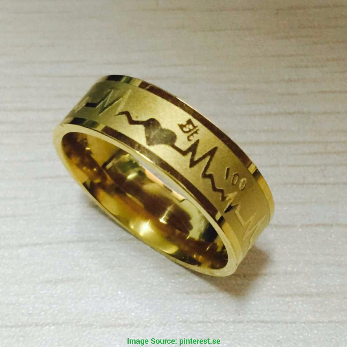 De Luxo Aliança de Ouro Aliexpress Find More Rings Information About Fashion 8Mm Falling In Lov