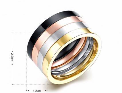 Luxo Anel Masculino Ouro Aliexpress Aliexpress.Com : Buy Iiomo 4Pcs Punk Couple Rings Set Rose Gol