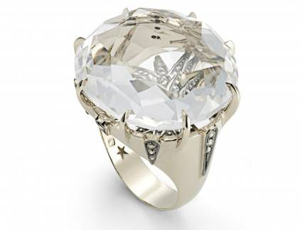 Mais Popular Aparador de Aliança H Stern H.Stern Moonlight Ring In 18K Noble Gold With Cognac Diamonds An
