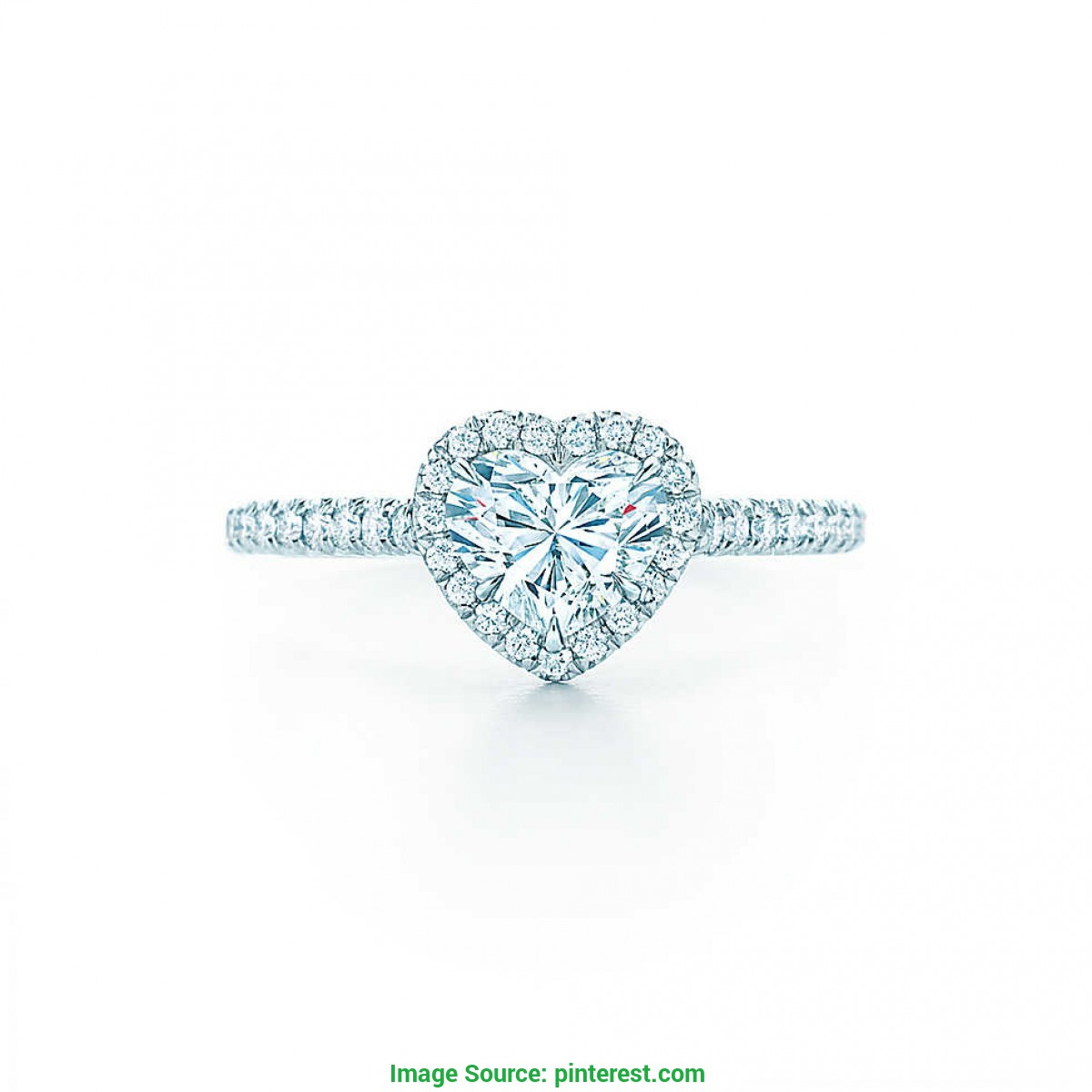 Surpreendente Alianca Noivado Tiffany Anel de Noivado Tiffany & Co. Com Diamantes - Heart Shap