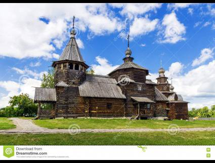 Novo Anel de Ouro Russia Museum Of Wooden Architecture In Suzdal. Gold Ring Of Russia Stoc
